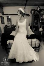 A Brides Tale....Glamour vintage birdcahe veil of French net.