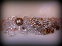 Vintage glamour, golds, ivories and pearls.